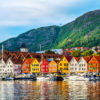 colorful houses in Scandinavia